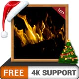 Dark Fireplace HD FREE - Enjoy the winter Christmas holidays with hot romantic fireplace on your HDR 4K TV and fire devices as a wallpaper & theme for mediation & peace