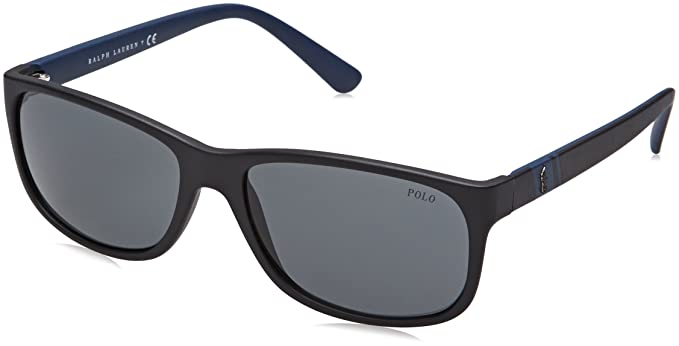 fe85f635ec4d1 Polo Ralph Lauren Men s 0ph4109 Rectangular Sunglasses Matte Black 59 mm