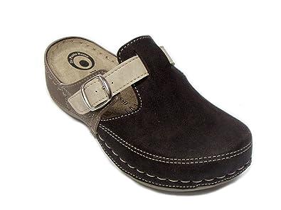 ultimo design online in vendita codici promozionali Dr Punto Rosso D235 Zoccoli Sabot Pantofole Scarpe Pelle Donna ...