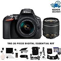 Nikon D5600 Digital SLR Camera w/AF-P DX 18-55 VR + TRD ® 20 Piece Digital Essential Kit