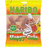 Haribo Happy Cola Sour, Helal/Halal, Gominolas de Fruta, 100g