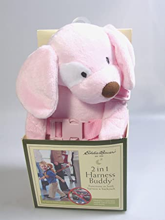 Eddie Bauer Pink Plush Puppy Harness Buddy Plush Backpack Child Safety Leash Other Baby Safety & Health