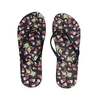 f36b8791f693ef Betty Boop Womens Flip Flop Sandal Thong (Betty Boop Hearts   Love