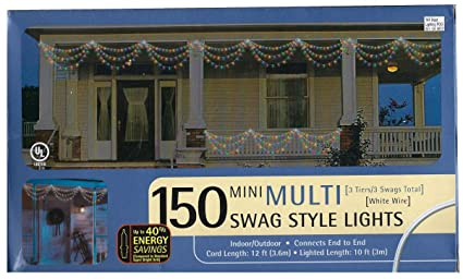 Amazoncom Target Brands 150 Mini Multi Swag Style Lights 3 Tiers