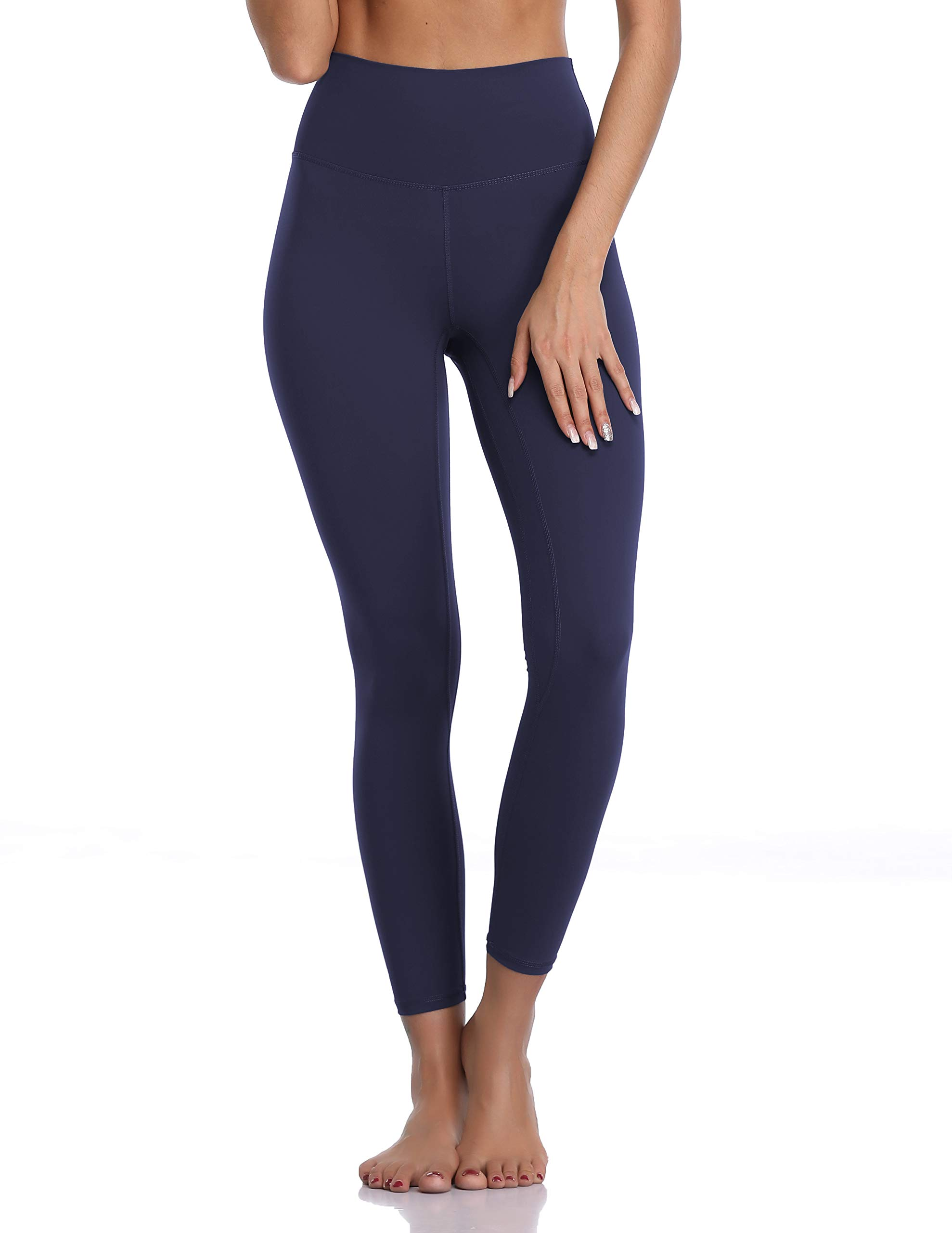 Colorfulkoala Women's Buttery Soft High Waisted Yoga Pants 7/8 Length Leggings (S, True Navy) by Colorfulkoala