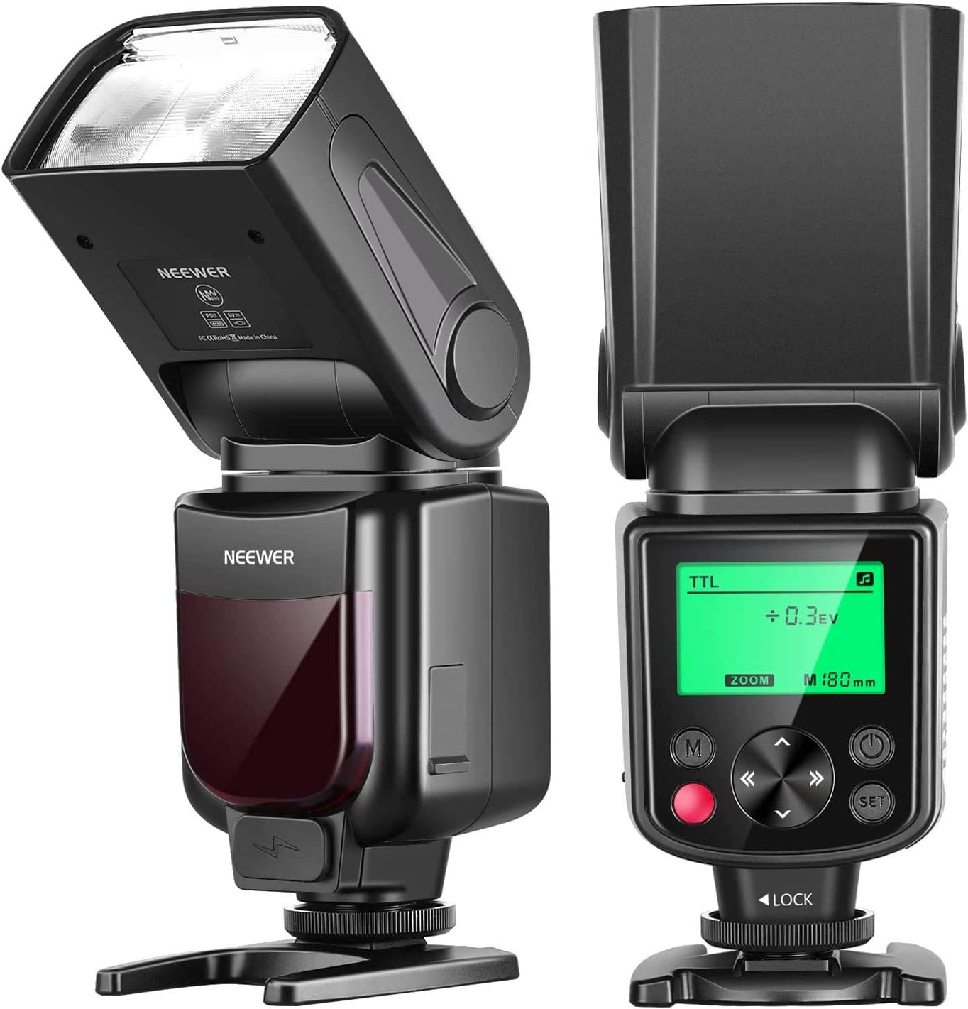 Neewer NW635 GN58 TTL Flash Speedlite with LCD Display and Soft Diffuser Compatible with Sony MI Hot Shoe Cameras A9II A9 A7RIV/III A7III A7SIII A6600 A6500 A6400 A6300 A6000 A99II A77II RX10IV