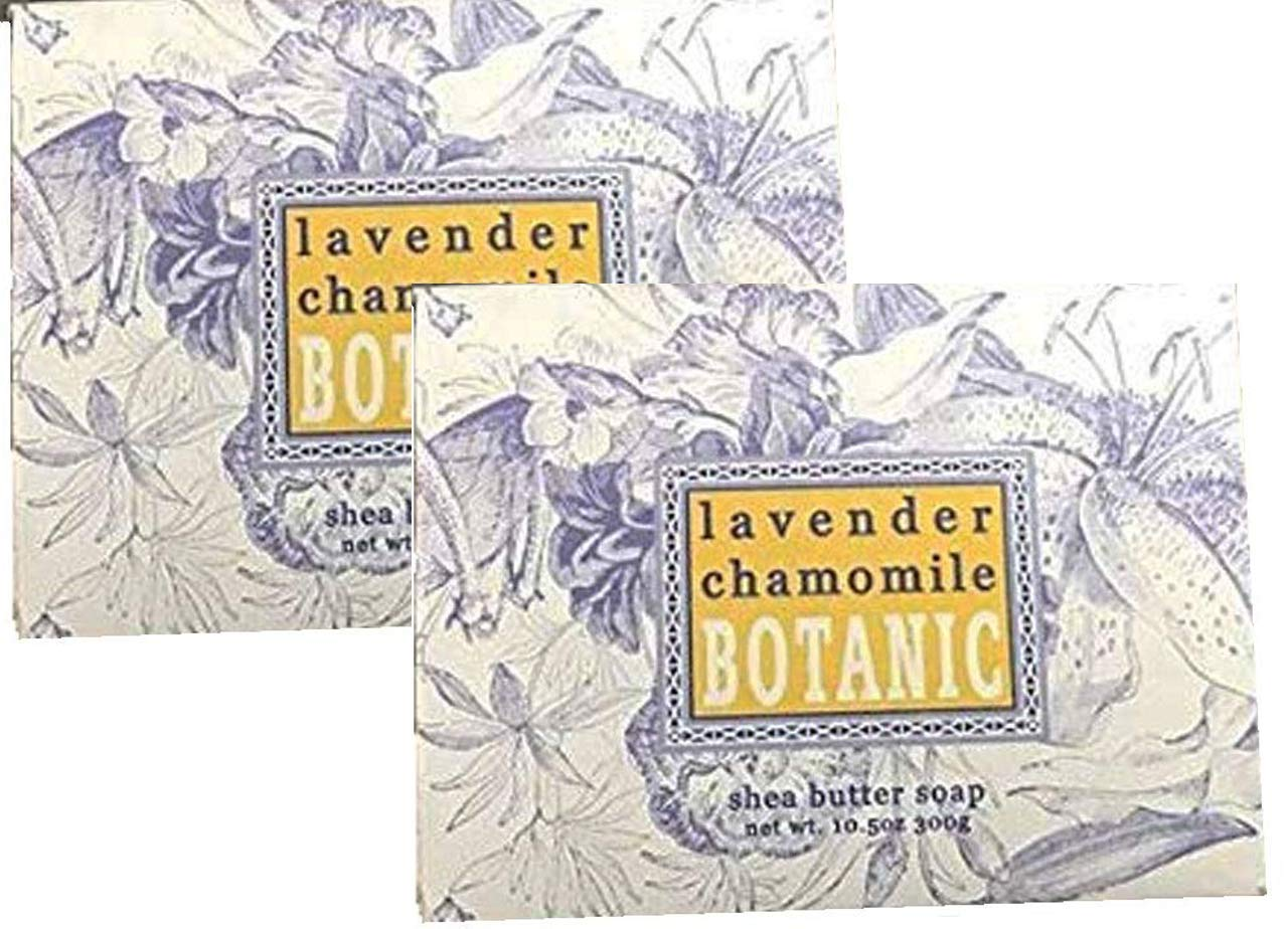 Greenwich Bay Trading Company Set of Two 10.5 oz Shea Butter Soap Bars (Lavender Chamomile)
