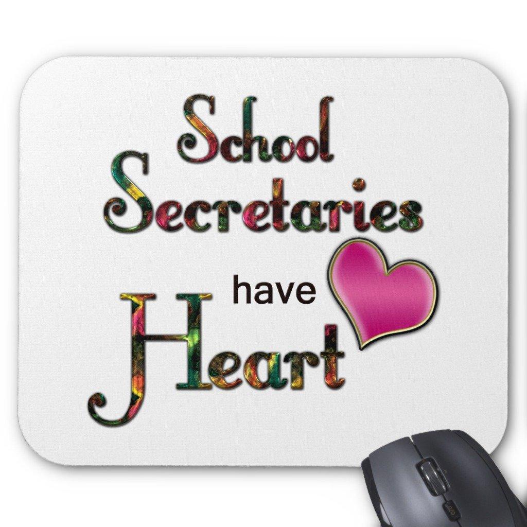 Zazzle School Secretaries Have Heart Mouse Pad