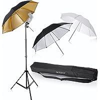 "Neewer® Flash Mount Three Umbrellas Kit 33""/84cm White Soft/Silver Reflective/Gold Reflective Umbrella for Canon 430EX II, 580EX II, Nikon SB600 SB800, Yongnuo YN560, YN565, Neewer TT560, TT680"