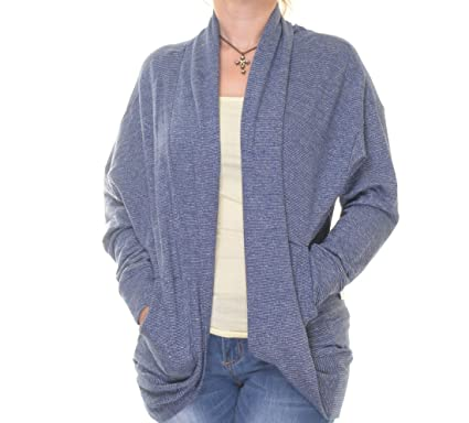 a14e832ab4 Tommy Hilfiger Womens Open Front Long Sleeves Cardigan Sweater Blue XS