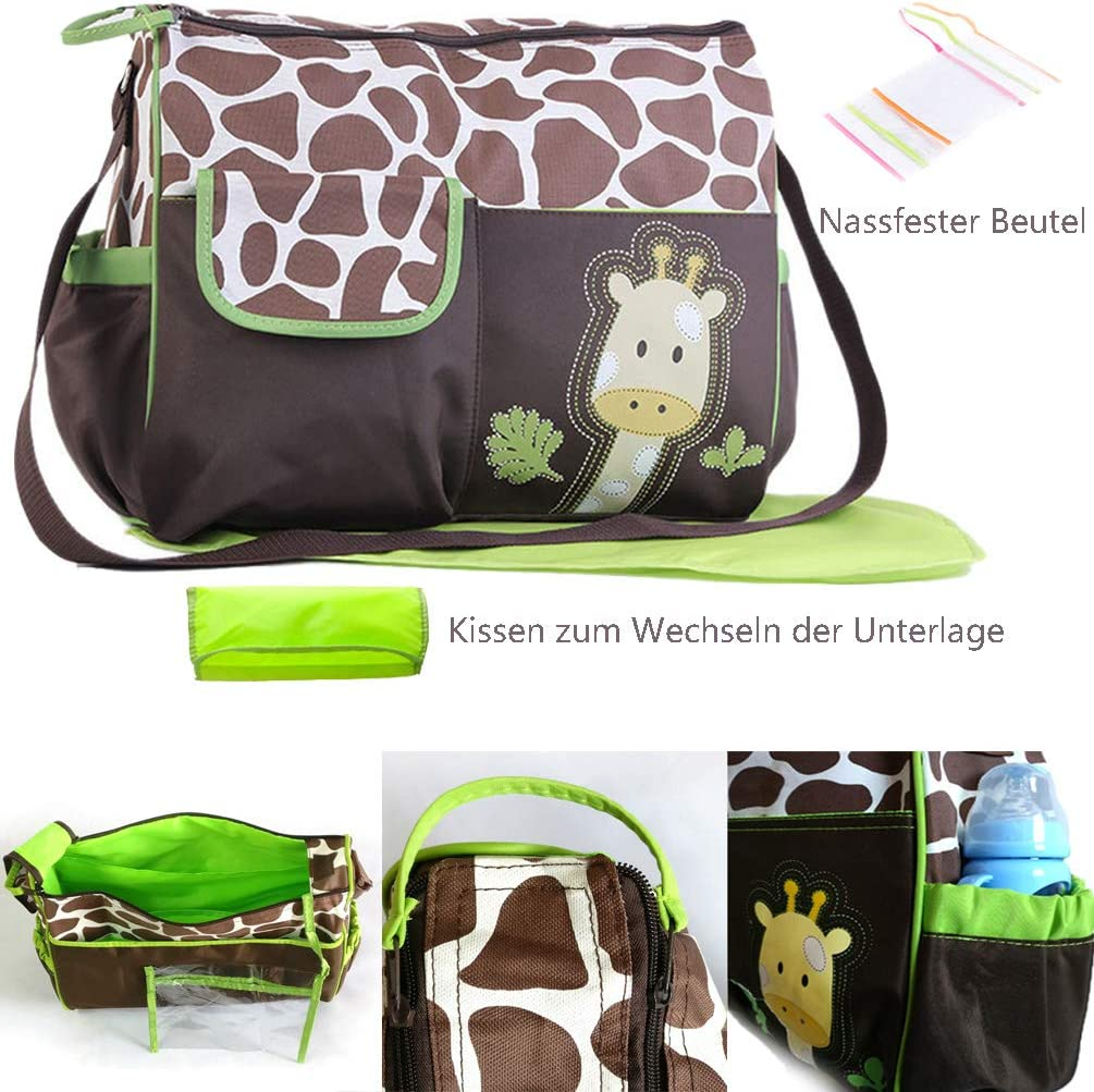 Baby Wickeltasche Zebra Gro/ße Multifunktions Wickeltasche Niedliche Aufbewahrungstasche f/ür Mama und Papa Unisex f/ür den Au/ßenbereich