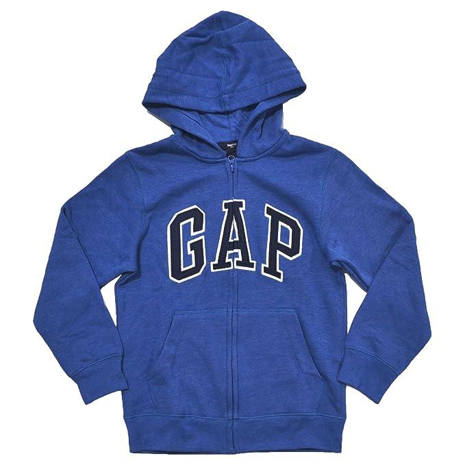 Brecha niños forro polar arco Logo Zip Up sudadera con capucha - Azul -: Amazon.es: Ropa y accesorios