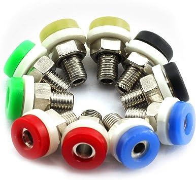 20x Binding Post 2mm Banana Socket Jack For Mini Banana Plug Test Probe 2 Colors