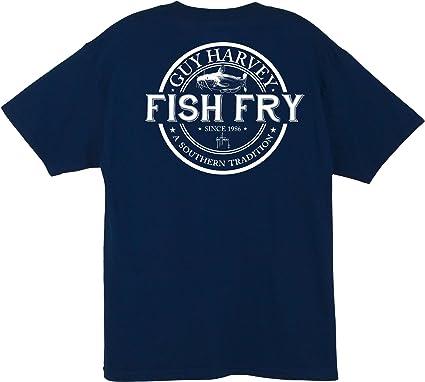 0aac7be6c Amazon.com: Guy Harvey Fish Fry S/S Pocket T-Shirt: Clothing