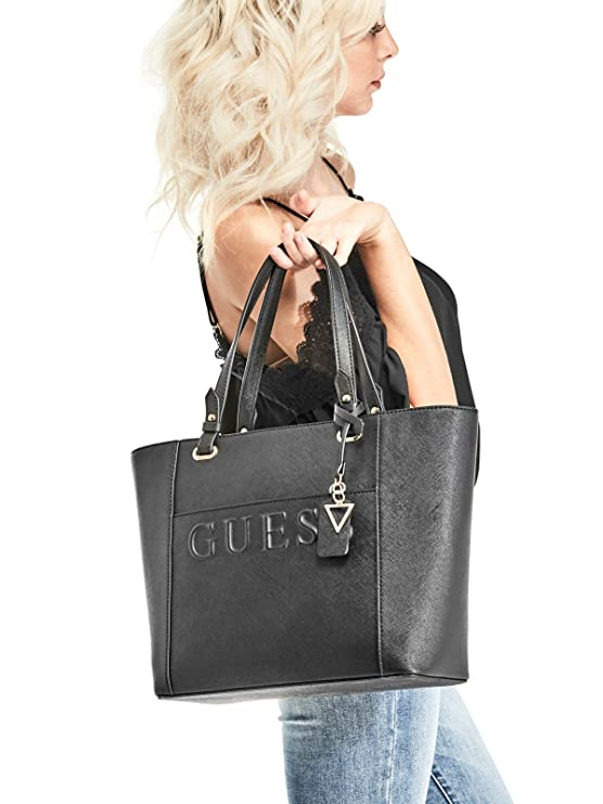 d4f06c0e85 Amazon.com  GUESS Factory Women s Laken Embossed Logo Tote  Clothing