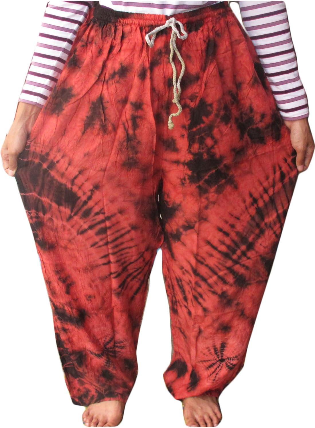 Perfect Beach Cotton Rayon Tie Dye Fisherman Yoka Pants Hippie Baggy 71PChJnkb0L