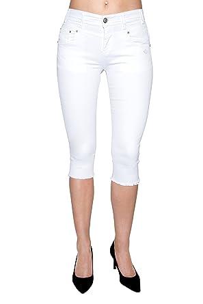 Lost in Paradise - Jeans - Slim - Femme Blanc Weiß  Amazon.fr ... cc678dffd8a8