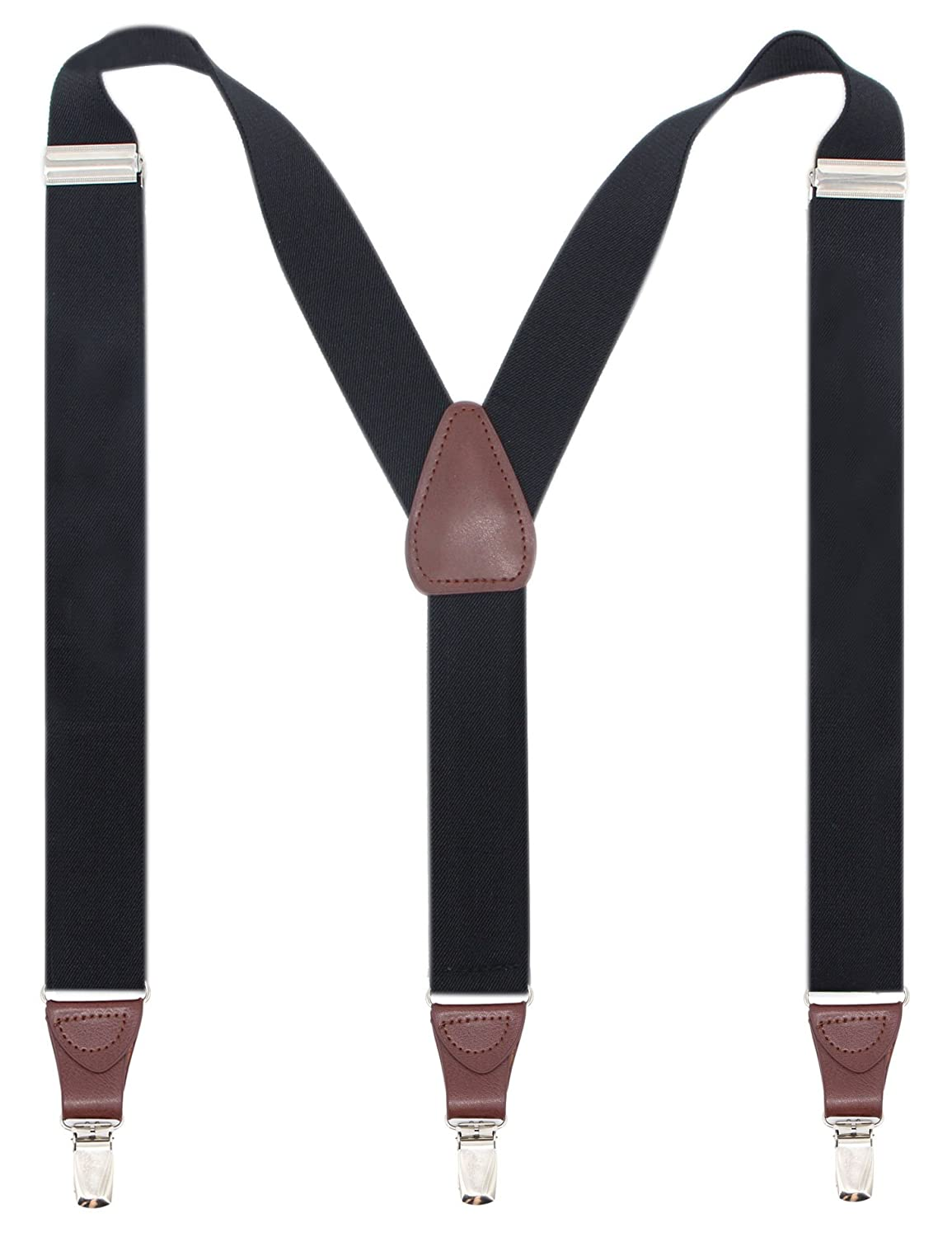 1741356c5b2 COMFY FIT ALL DAY LONG – ADJUST TO YOUR NEEDS  These Y-shaped men s  suspenders are made of high quality fabric and PU leather so as to stand  the test of ...