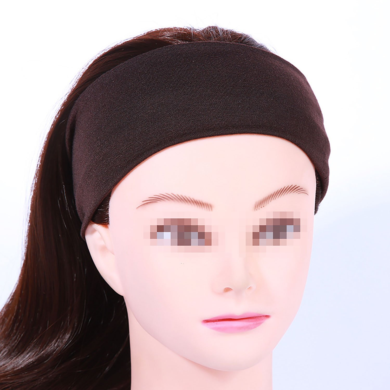Funyye Stylish Headbands Turban Wide Head Band Solid Color Boho Yoga Style  Soft Hairband Elastic Headband Wrap Hat Headwrap Hair Ties Yoga Sports  Workout ... 4242a336b3c