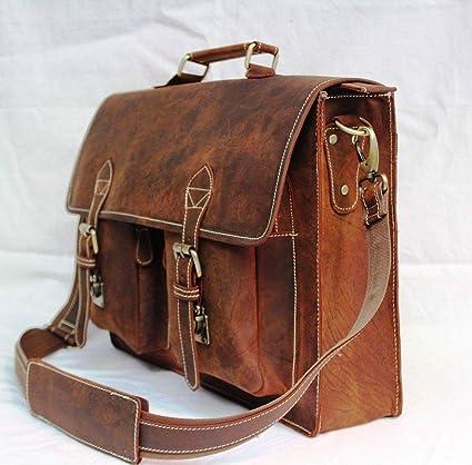 Image Unavailable. Image not available for. Color  Leather Messenger Bags  For Men Women Mens Briefcase Laptop Bag Best Computer Shoulder Satchel  School ... bb5eacb45dcc5
