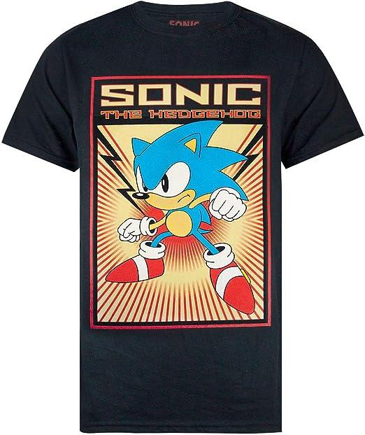 Knuckles Retro Japanese Sonic The Hedgehog Women/'s T-Shirt