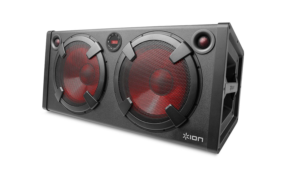 ION Audio Road Warrior | 500-watt Portable Bluetooth Stereo Speaker System with Rechargeable Battery + AC & DC Power Inputs