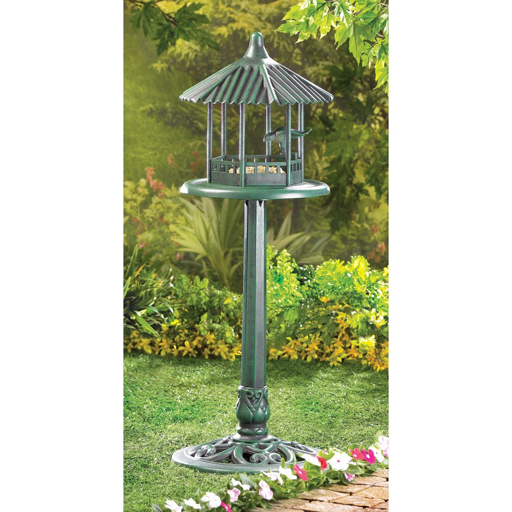 bird image for gazebo awesome cedar full feeder lighted