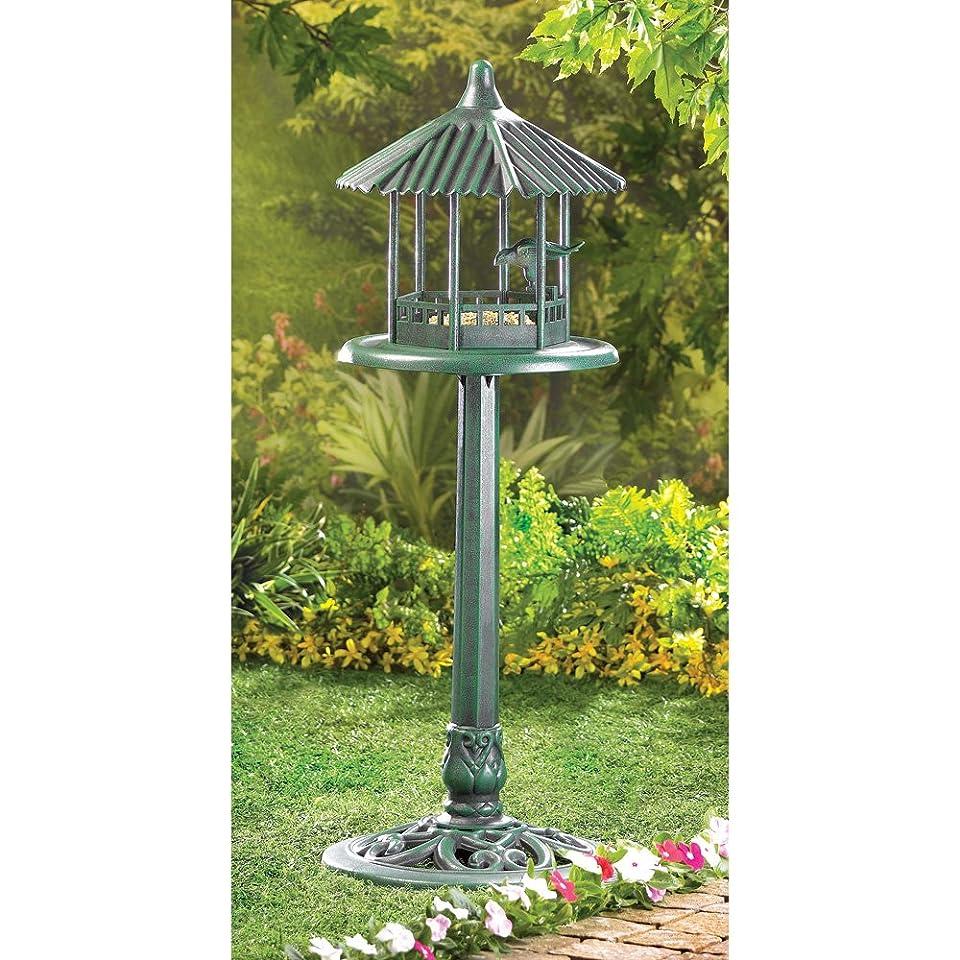 Verdigris Gazebo Standing Birdfeeder Bird Feeder Weathered Copper Garden Yard