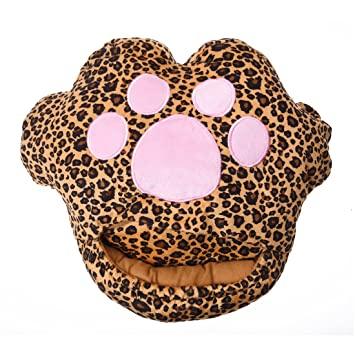 SODIAL(R) 1 x Almohadilla del gato del leopardo Calentador de pie deslizador calentado USB Ordenador portatil --- Color aleatorio: Amazon.es: Electrónica