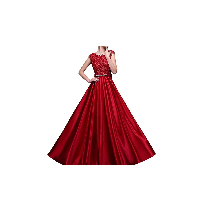 Dark Red Sexy See Through Plus Size Prom Dresses ALine FloorLength Long Formal Dress
