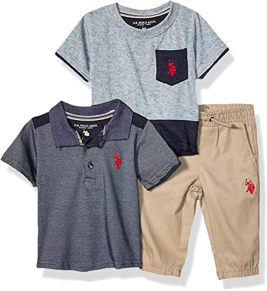 U.S Baby Boys Polo Shirt and Short Set Polo Assn