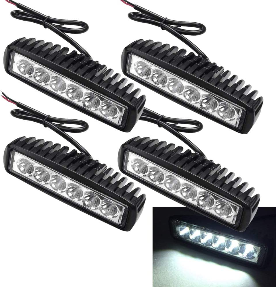 "6/"" 18W LED Arbeitsscheinwerfer Offroad Scheinwerfer Work Light Bar SUV 12V 24V A"