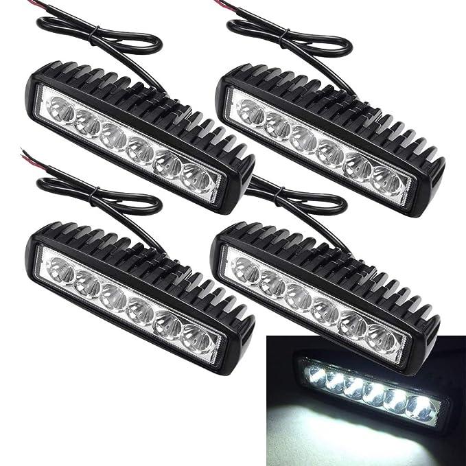 4 X 18W LED Arbeitsscheinwerfer Light Bar Flutlicht Offroad Scheinwerfer 12V 24V Zusatzscheinwerfer SUV, UTV, ATV Reflektor A