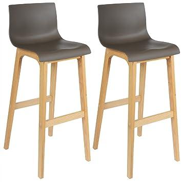 Avec 2 De Woltu537 Chaise Bar LoungeBoisMarronUnités X Structure En Bois Dossier Tabouret Chaises vn0wOyN8m