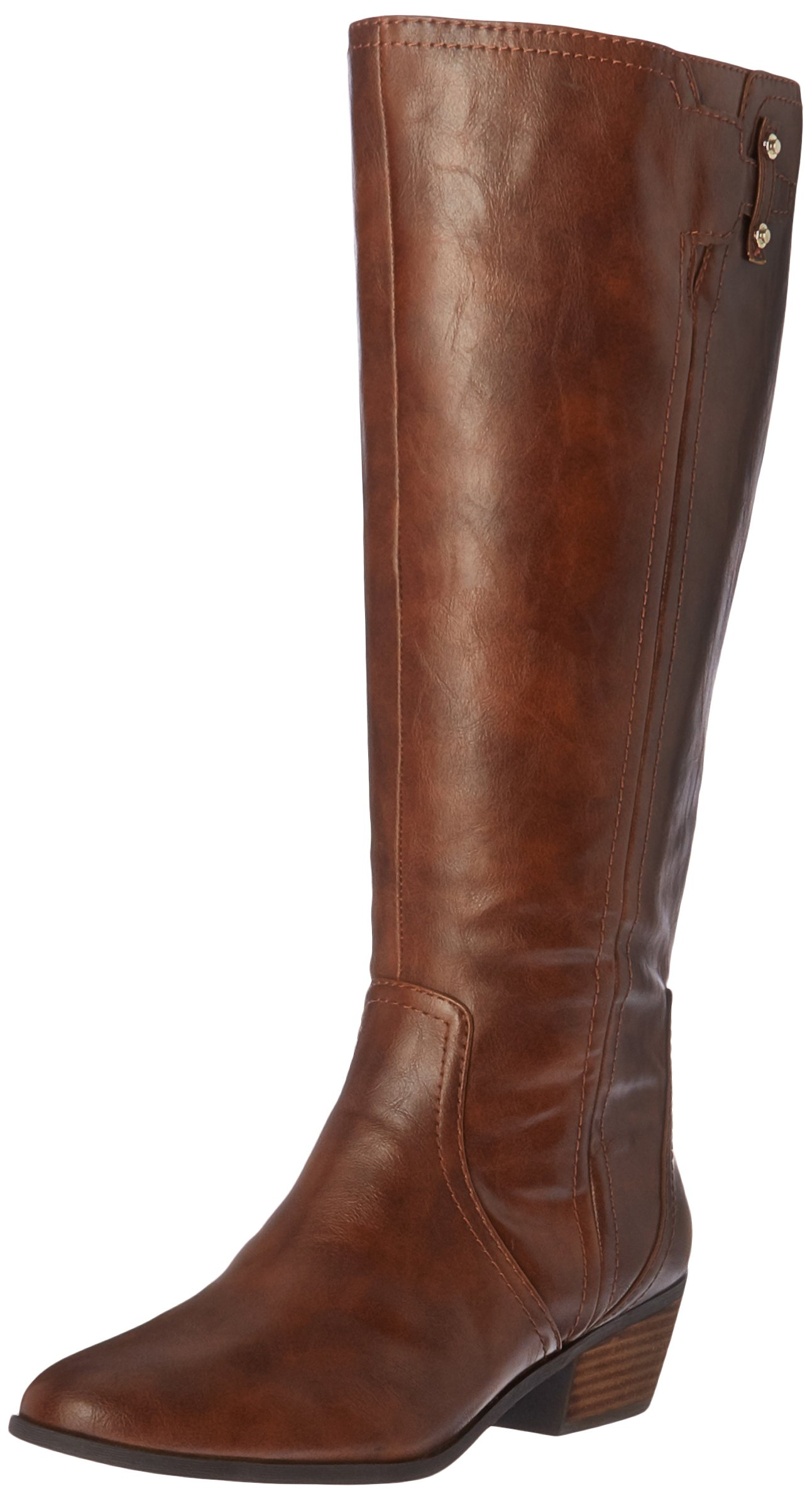 Dr. Scholl's Shoes Women's Brilliance Wide Calf Riding Boot, Whiskey, 10 M US