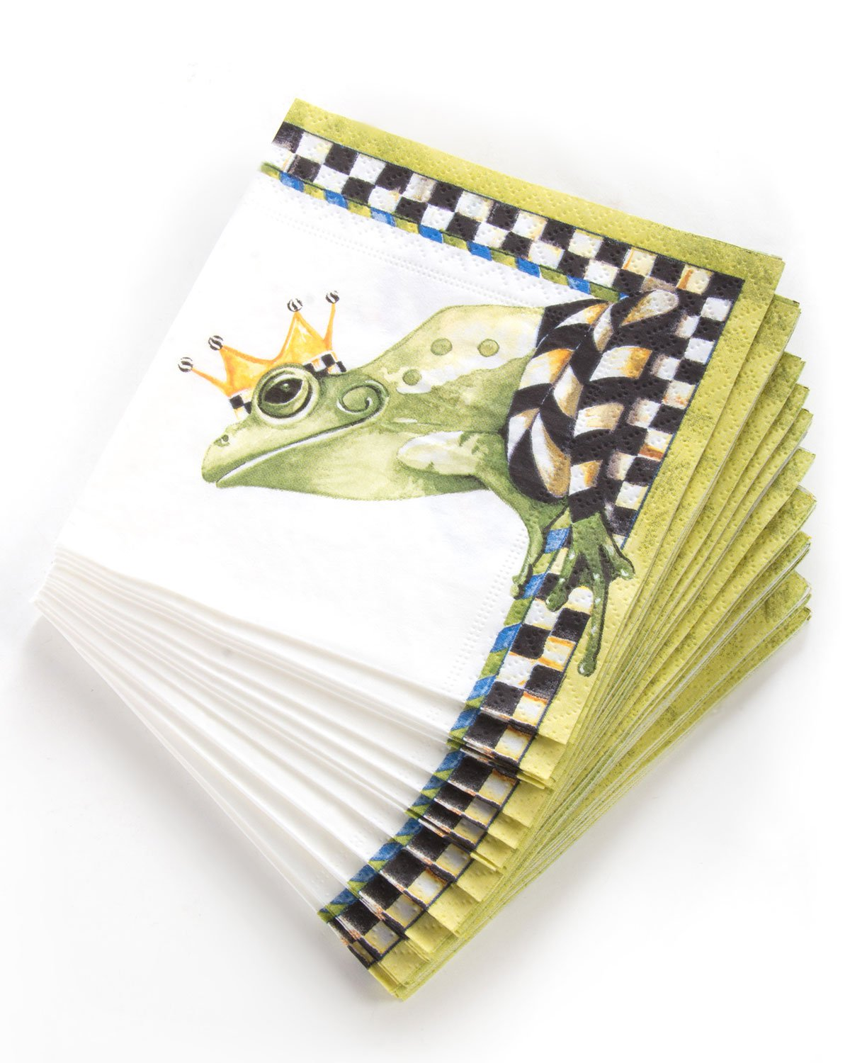 MacKenzie-Childs Frog Paper Cocktail Napkins, Multi Colors