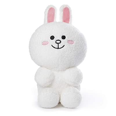 "GUND Line Friends Cony Seated Plush Stuffed Animal Rabbit, White, 7"", Multicolor: Toys & Games"