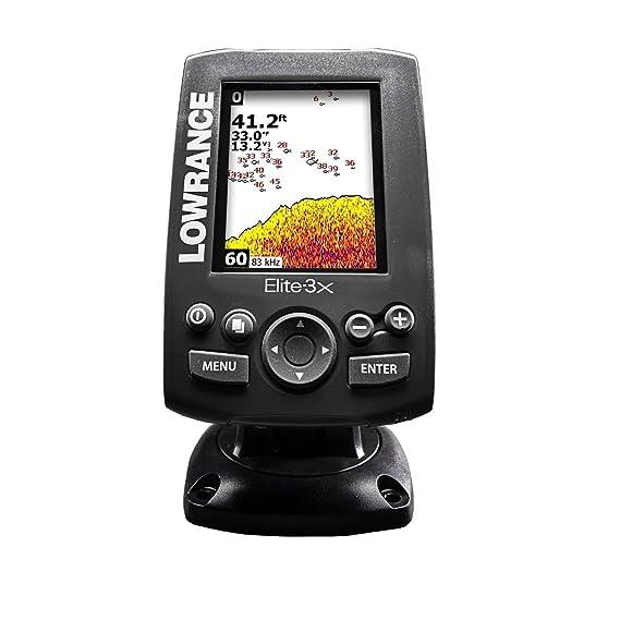 Lowrance 000-11448-001 Elite-3X Fishfinder with 83/200 Transducer