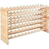Giantex Wood Wine Rack Stackable Storage Storage Display Shelves (72-Bottle)