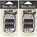 ノルコーポレーション ルームフレグランス Johns Blend エアーフレッシュナー 2枚セット レッドワイン