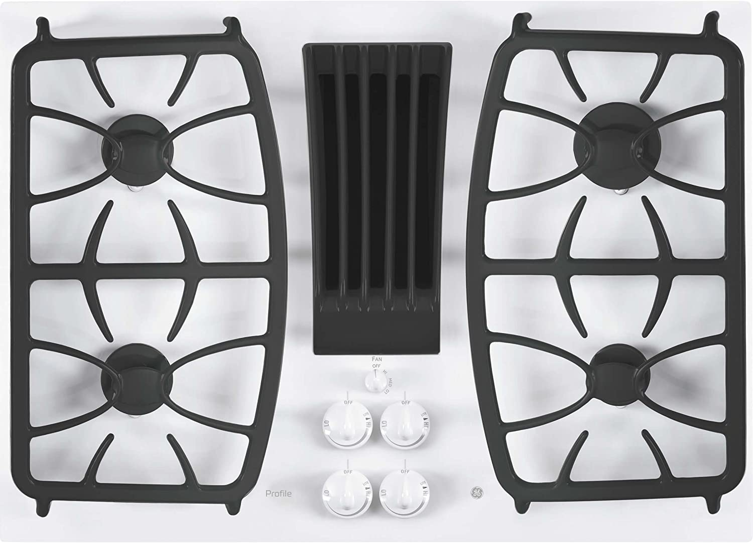 GE Profile 30'' Built-In Gas Downdraft Cooktop White PGP9830TJWW
