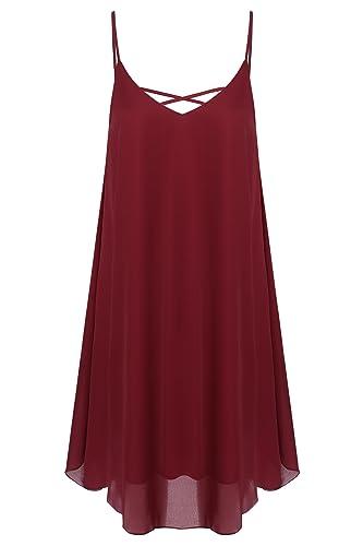 Zeagoo Women's Summer Spaghetti Strap Sleeveless Beach Dress Swing Sundress