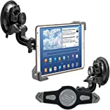 "kwmobile car shield mount for 7-8"" Tablet PC - car mount with suction cup in black - e.g. compatible with Apple, Samsung, Lenovo, Asus, Huawei, Amazon, Acer, Microsoft, Sony, LG"