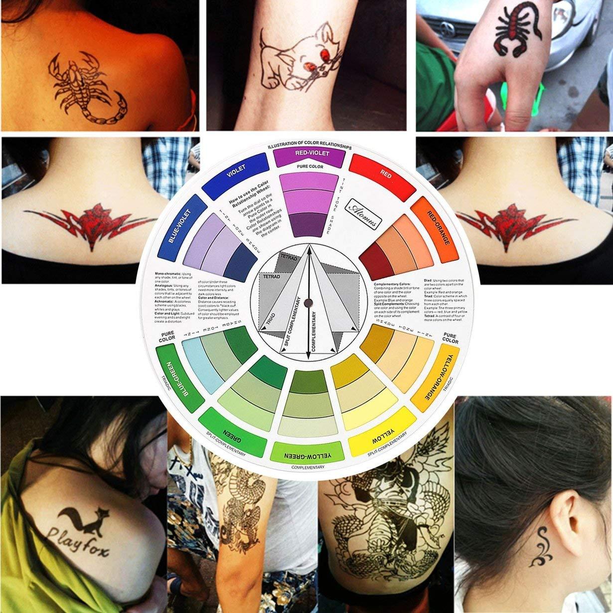 Rueda de color para el maquillaje permanente del tatuaje ...