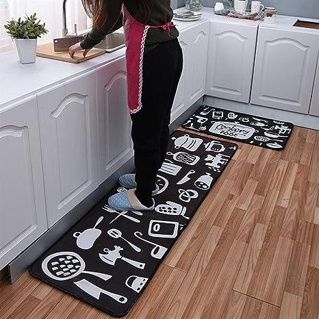 Insun Carpet Kitchen Runner Kitchen Mat Washable Non Slip Kitchen Bedroom Bathroom Door Mat Anti Fatigue Mat Amazon De Kuche Haushalt