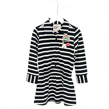 Mim-Pi Vestido - suéter - Rayas - Manga Larga - para niña negro 12 ...