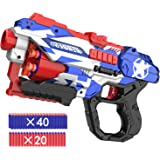okk Blaster Toy for Boys, Portable Toy Blaster with 60 PCS Refill Soft Foam Darts and Portable Competitive Shooting…