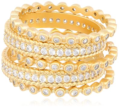 6456a150c4522 Freida Rothman Mixed Stackable Ring Set