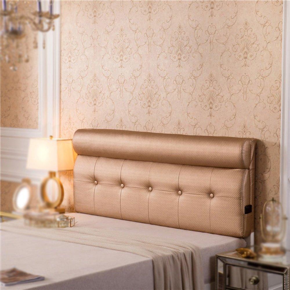 Leather bag bed backrest / bed big cushion / soft bag back cushion / pillow / waist guard / sofa big back ( Color : C , Size : 1801060cm )