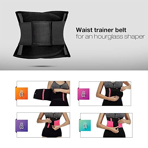 eab82fa648 MUKATU Women s Workout Waist Trainer Belt Back Support Slimming Cincher  Fitness Bodyshaper at Amazon Women s Clothing store